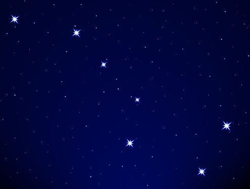 Big Dipper on the starry sky